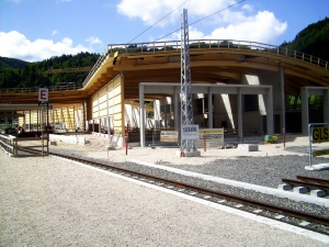 Bahnhof Laubenbachmühle mit Hackgut-Beheizung