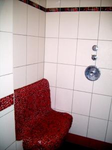Brause mit beheiztem Sitz (Fußboden-Rohre)